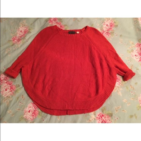 red/orange winter sweater cozy winged sweater, worn only once! Guinfvere Sweaters