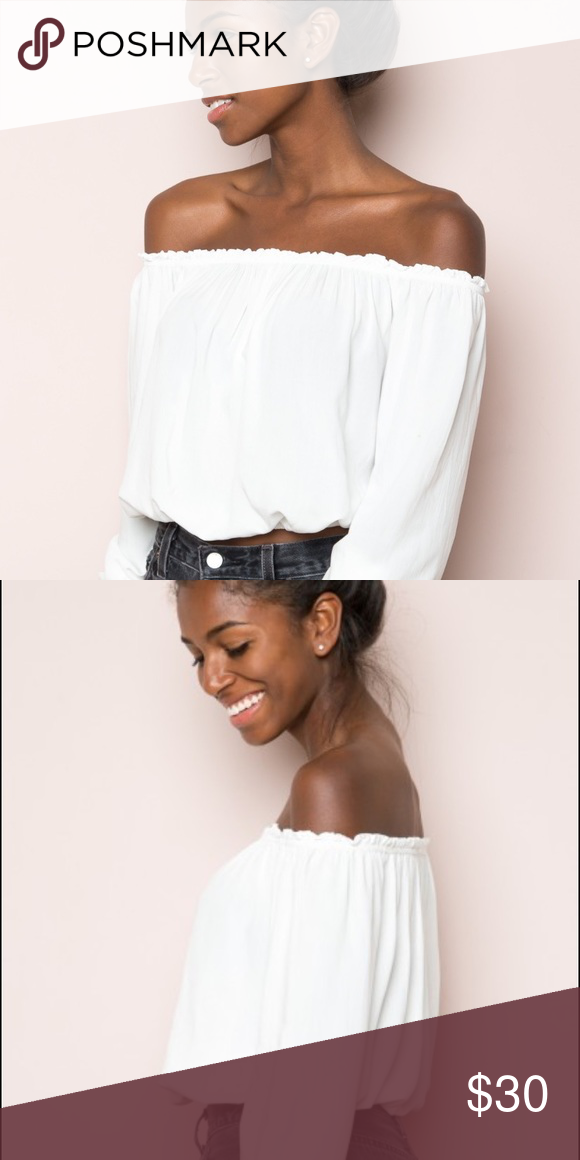 eec58948ace16 BRANDY MELVILLE WHITE MAURA TOP White Off The Shoulder Top. Have no problem  keeping it if it does not sell Brandy Melville Other