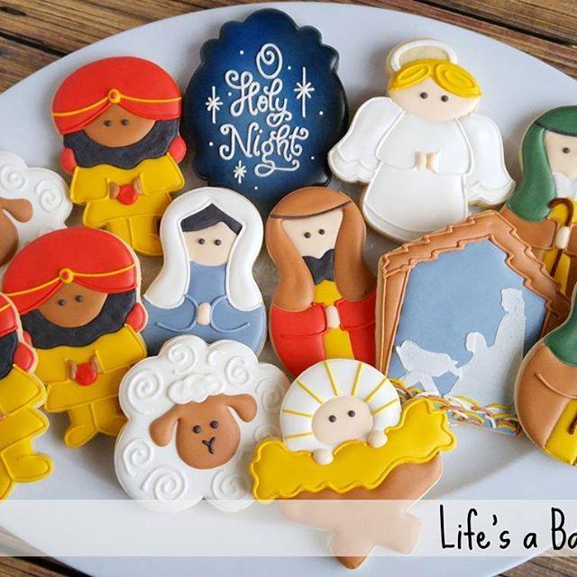 Nativity Cookies Cookies Christmas Sugar Cookies Christmas