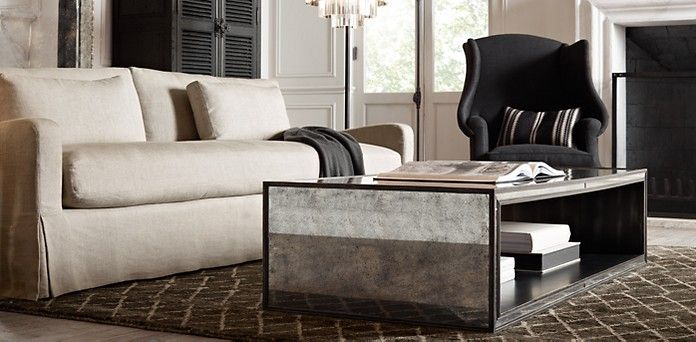 mirrored coffee table looks great love this room great carpet