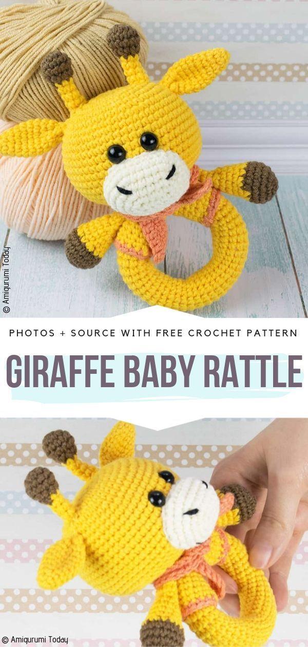 Crochet Animal Baby Rattles Free Patterns