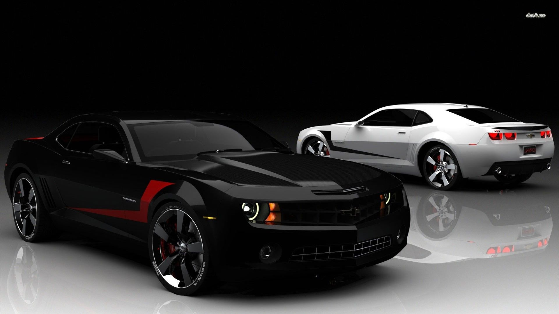 Download Black And White Chevrolet Camaro Car Wallpaper Full Hd