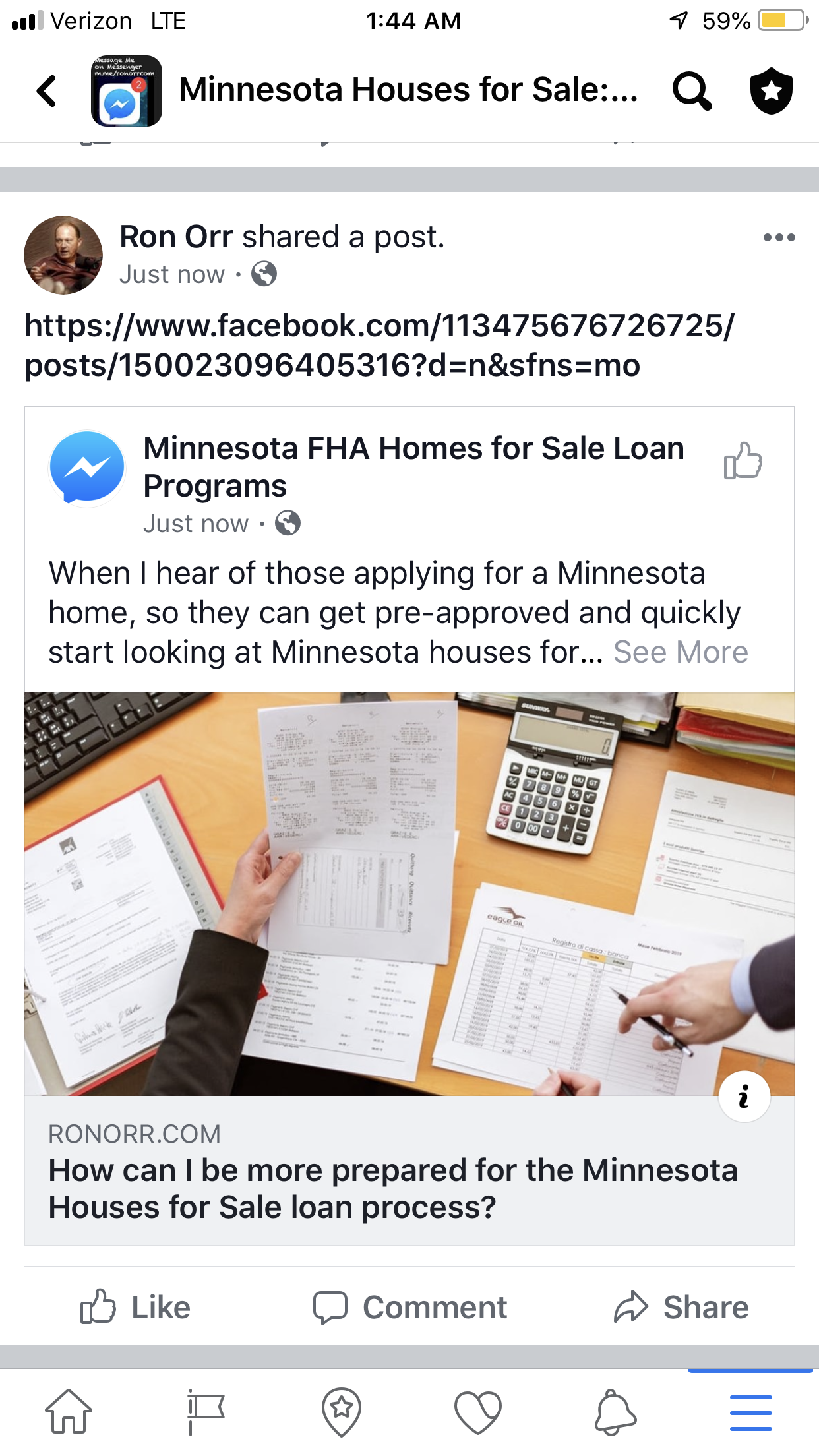 When I hear of those applying for a Minnesota home, so