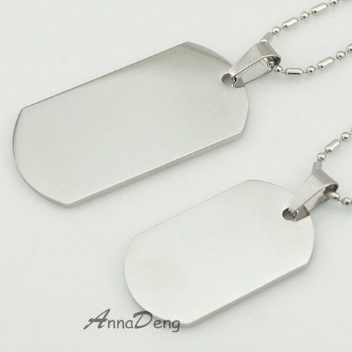 CHIMDOU Hond Tag Zilveren 316L Rvs Hanger Ketting Militaire Soldaten metal stempelen blanks Tags groothandel KJP08