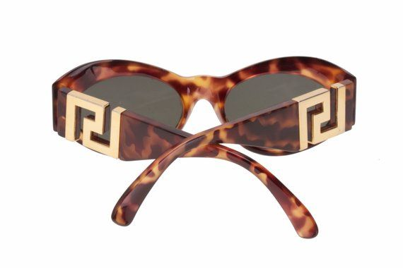 d50bb7449a6c7 Gianni Versace Medusa T74 col.869 vintage demi amber cateye sunglasses with  signature greek temples