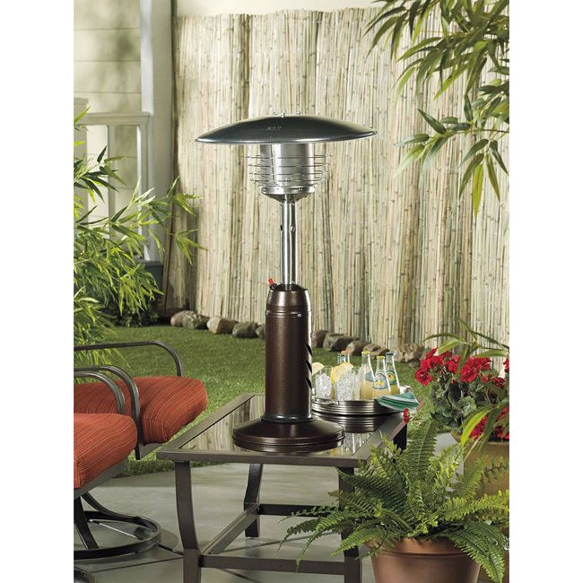 Superbe Outside Portable Heater Propane Hammered Bronze Table Top Heating Weight  Plate #Hiland