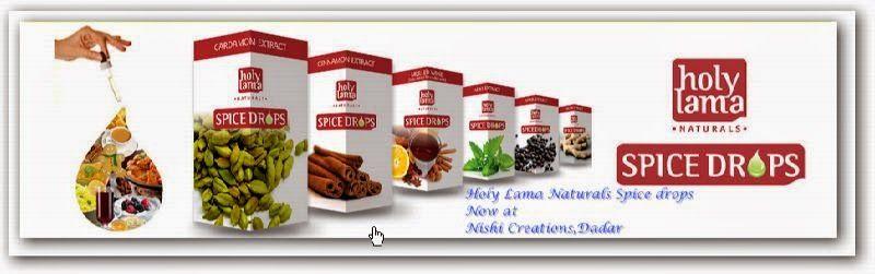 Spice drops extracts Holy Lama Naturals at Nishi Creations: Turmeric extract Holy Lama liquid drops at Nishi's...