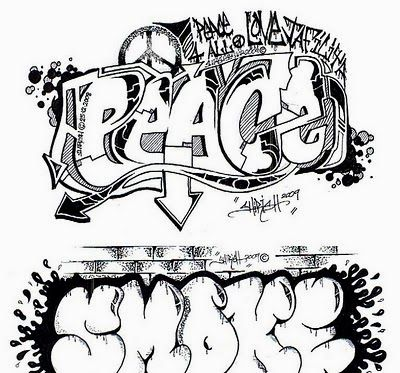 Graffiti Letters Coloring Pages Jpg 400 373 Graffiti Lettering