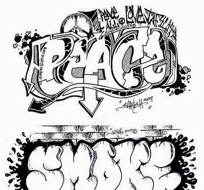 Graffiti Letters Coloring Pages Jpg 400 373 Graffiti Words Graffiti Lettering Fonts Graffiti Drawing