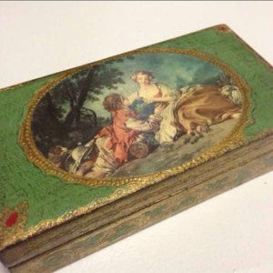 Reduced, Antique Lord & Taylor Handkerchief/Glove box Made in Italy, trinkiet box, jewelry box,