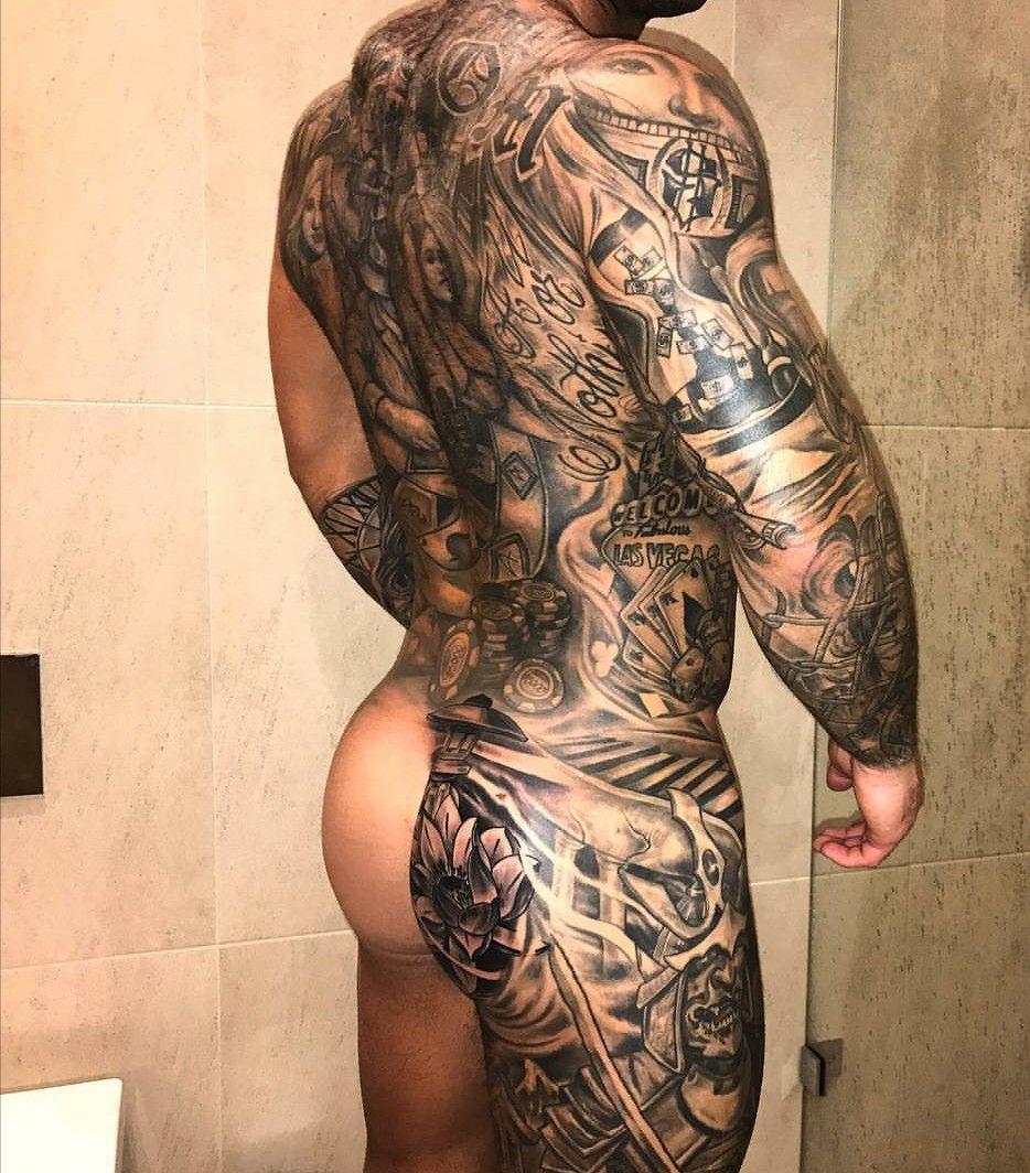 Muskeln #Bart #Arsch #Rücken #Tattoo #sexy   vibes masculins ...