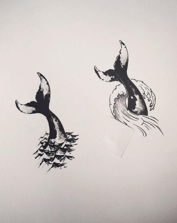 Whale tail tattoo designs. Tattoo artist: doy | Tattoo Ideas ...