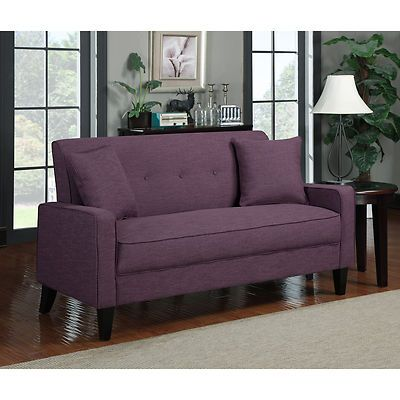New Home Decor Living Room Furniture Amethyst Purple Linen Sofa Seat Loveseat | eBay