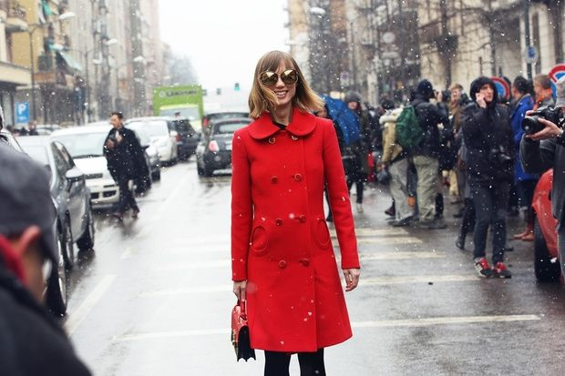 Make a statement in a red coat. www.stylestaples.com.au