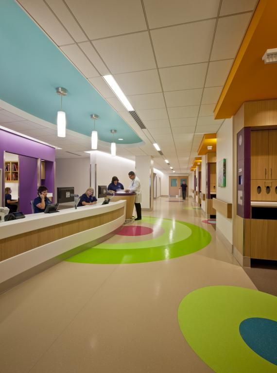 The Vibrant Colors Used On Each Floor Were Chosen To