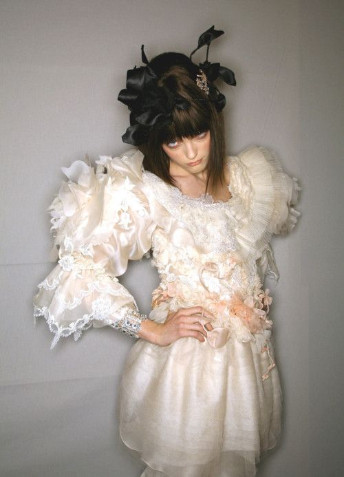 Vlada Roslyakova backstage Christian Lacroix Spring 2007 Haute Couture
