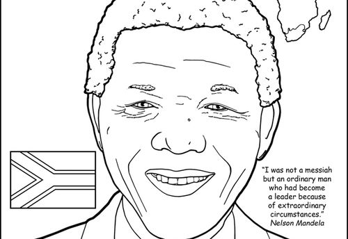 Nelson Mandela Coloring Page Coloring Pages Color Adult