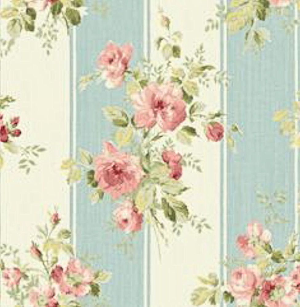 Details About Dollhouse Miniature Shabby Chic Wallpaper Pink