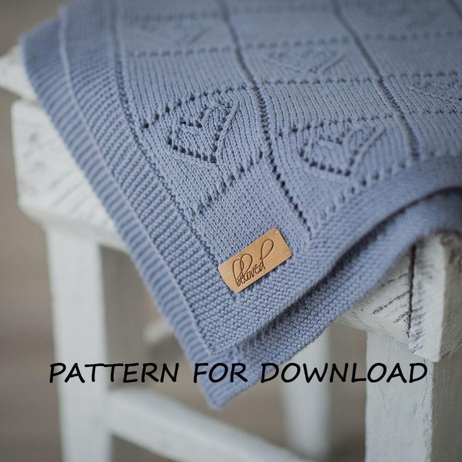 Knit Baby Blanket Pattern Knitting Pattern for Babies by belovedLT ...