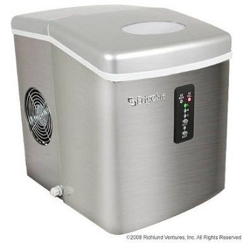 Edgestar Portable Stainless Steel Ice Maker Makes Up To 28 Lbs