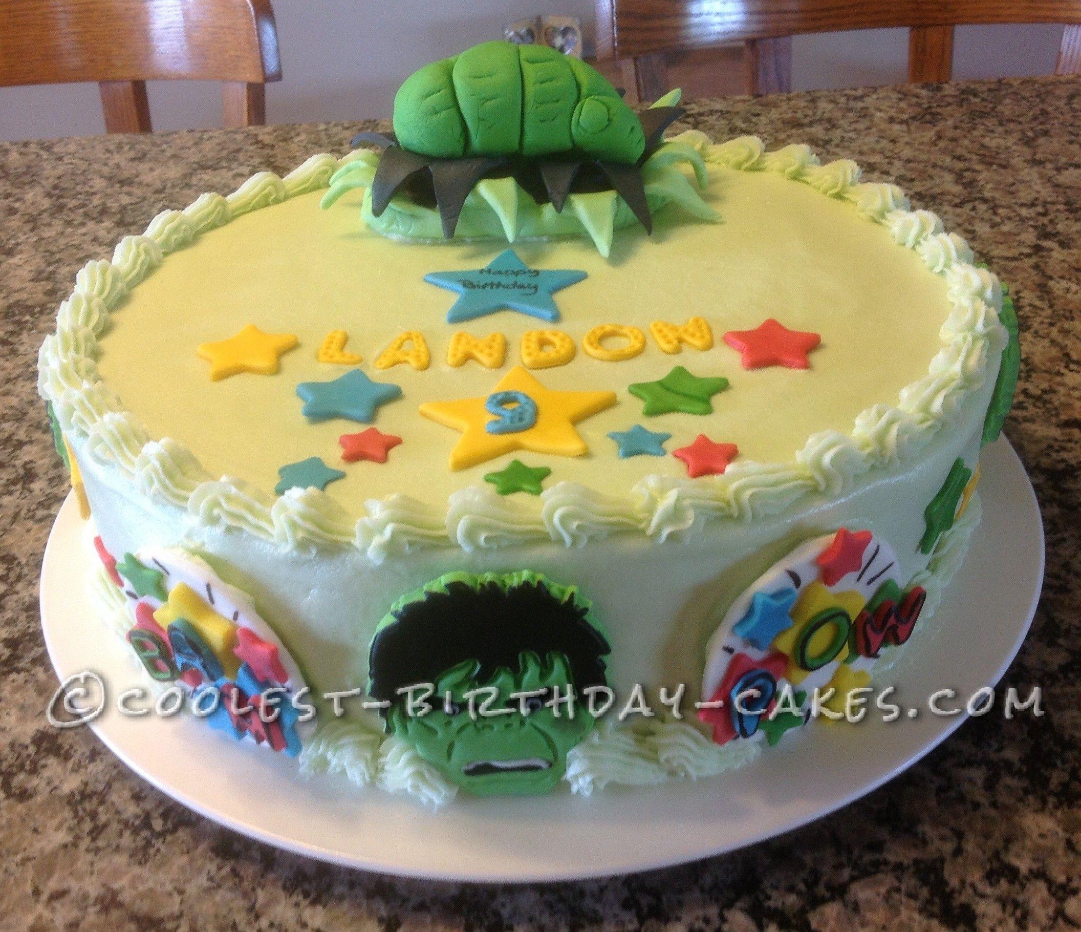 The Incredible Edible Hulk Cake Hulk Cakes Homemade Birthday