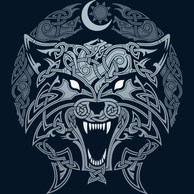 Wolves Of Ragnarok Viking Art Norse Tattoo Nordic Tattoo