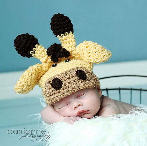 Oh, HECK. giraffe hat. Prob have to make this at some point now ...