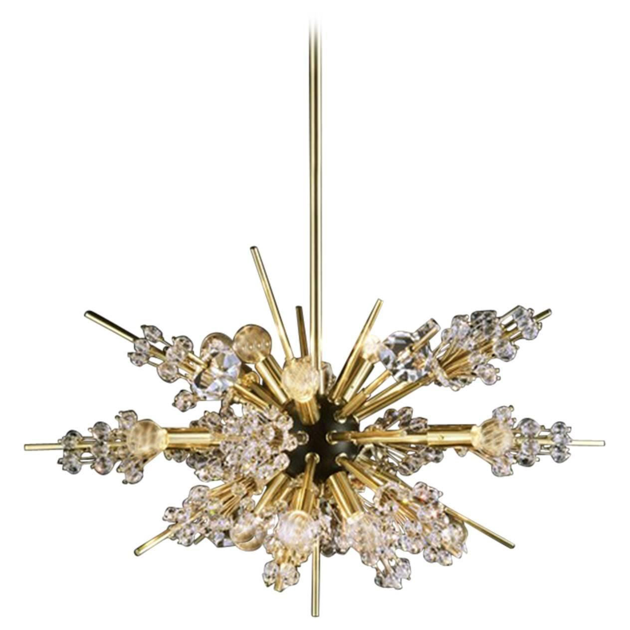 Metropolitan Crystal Chandelier Of Lobmeyr Created In 1963 11 Lights From A Unique Collecti Chandelier Pendant Lights Modern Chandelier