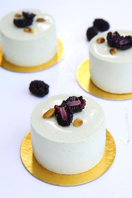 Sicile: Pistachio Jacone and Blackberry Mousse Cake. # ...
