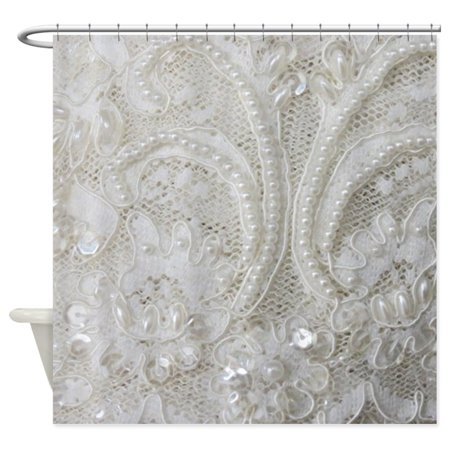 Cafepress Boho Chic French Lace Unique Cloth Shower Curtain Walmart Com With Images Lace Shower Curtains Shabby Chic Shower Curtain