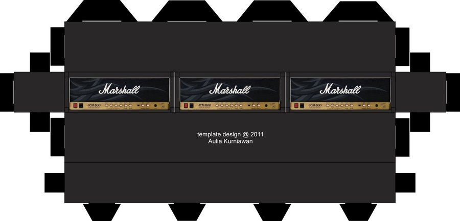 Marshall amps by 3mensdeviantart on @DeviantArt Guitars - p & l template