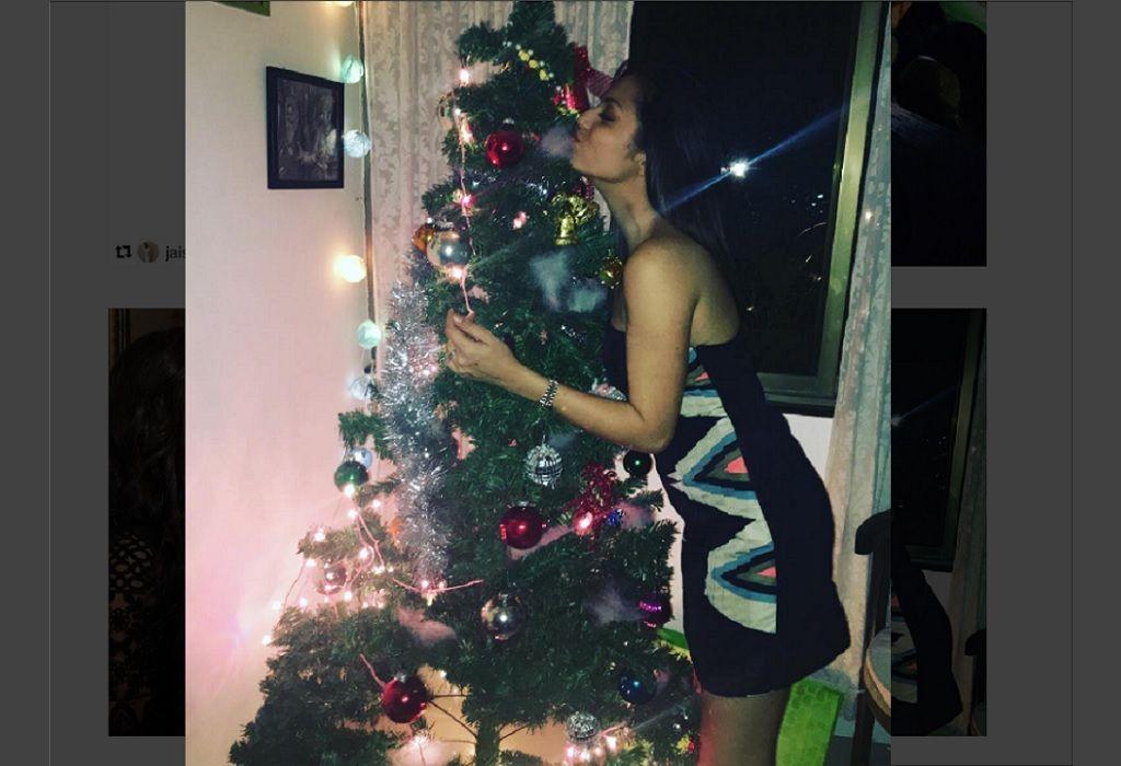بالصور هكذا قضت دراشتي دهامي بطلة مسلسل مادهوبالا راس السنة 2017 Holiday Decor Holiday Decor