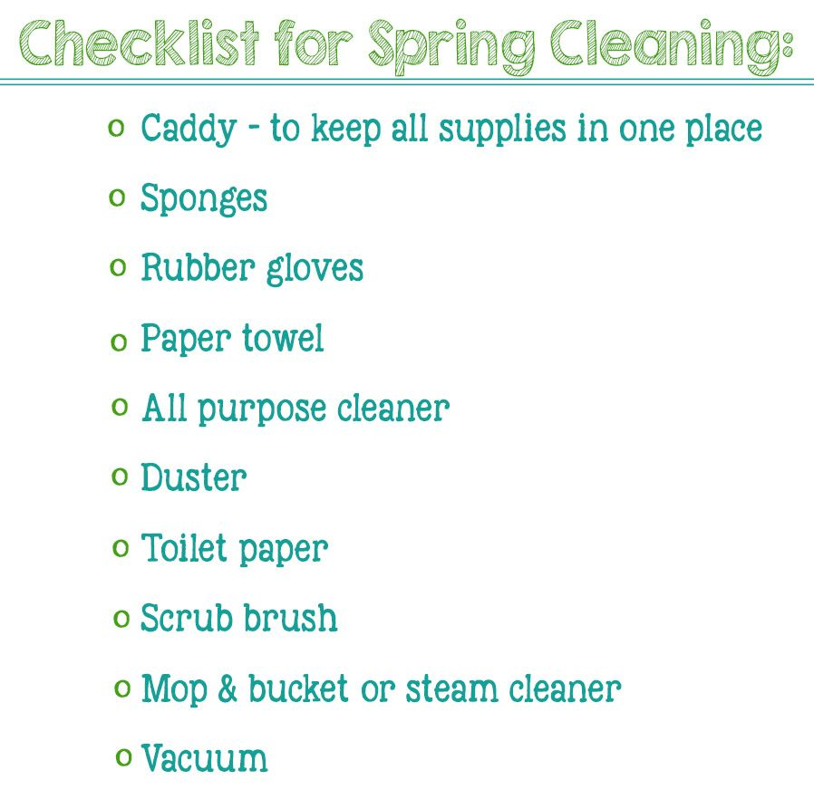 printable checklist for spring cleaning  #SpringClean16 #Walmart ad