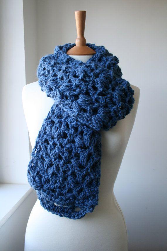 Crochet Pattern Scarf Crochet Pattern Super Chunky Lace Scarf Xxl