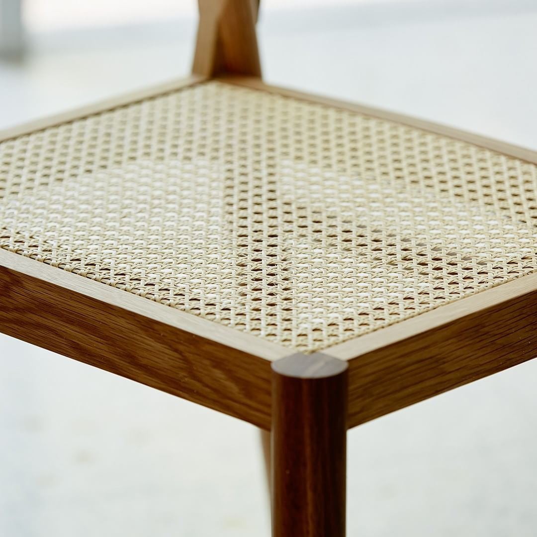The Brooklyn chair, American Oak and Rattan #designdetail ...
