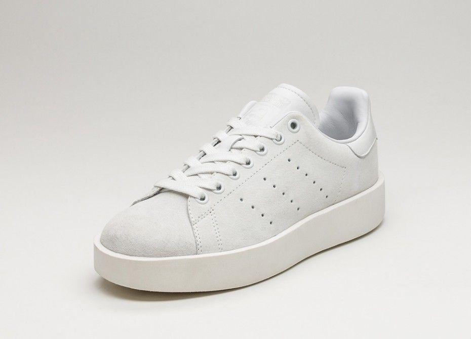 adidas Stan Smith Bold W (Crystal White / Crystal White / Off White)