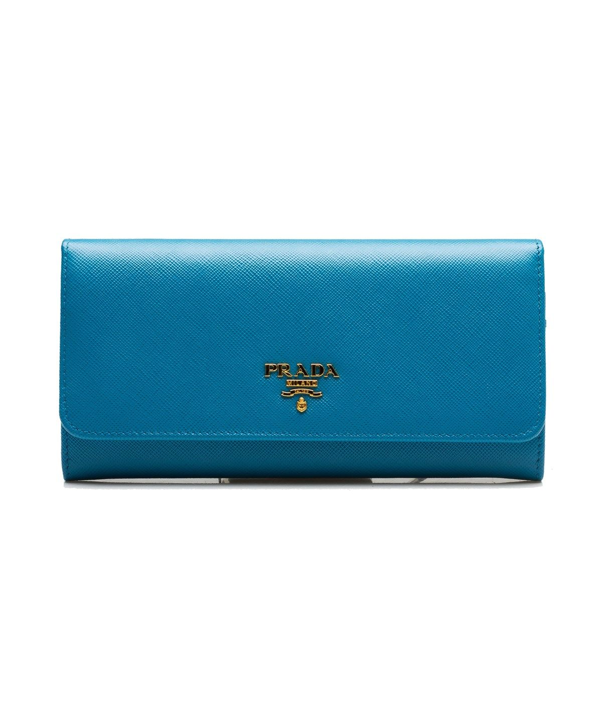 f65757d33cbe PRADA PRADA WOMEN'S CONTINENTAL FLAP SAFFIANO LEATHER WALLET HEAVENLY  BLUE'. #prada #clutches & evening bags