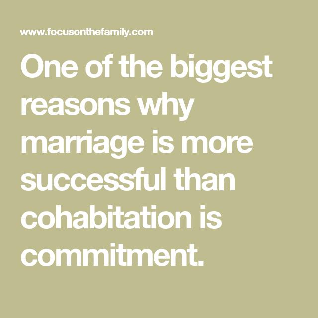 Against cohabitation reasons Key findings