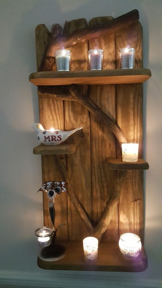 A Unique Rustic Driftwood Shelves Solid Shabby Chic