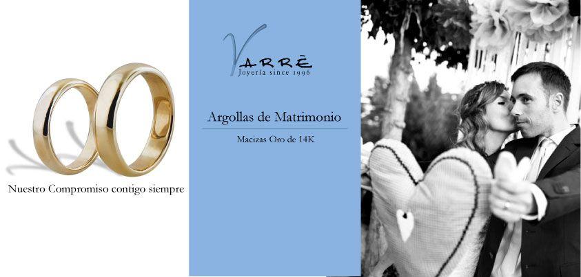 Nuestro compromiso contigo siempre♥ Par argollas de matrimonio Macizas de oro 14K $6,790 todo el mes de Enero 2014... #promociones #argollasdematrimonio #bodas #añonuevo #lunes #compromiso #eshoradedisfrutar #anillodecompromiso