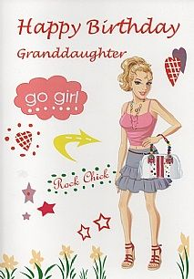 Birthday Cards Female Relation Granddaughter Happy