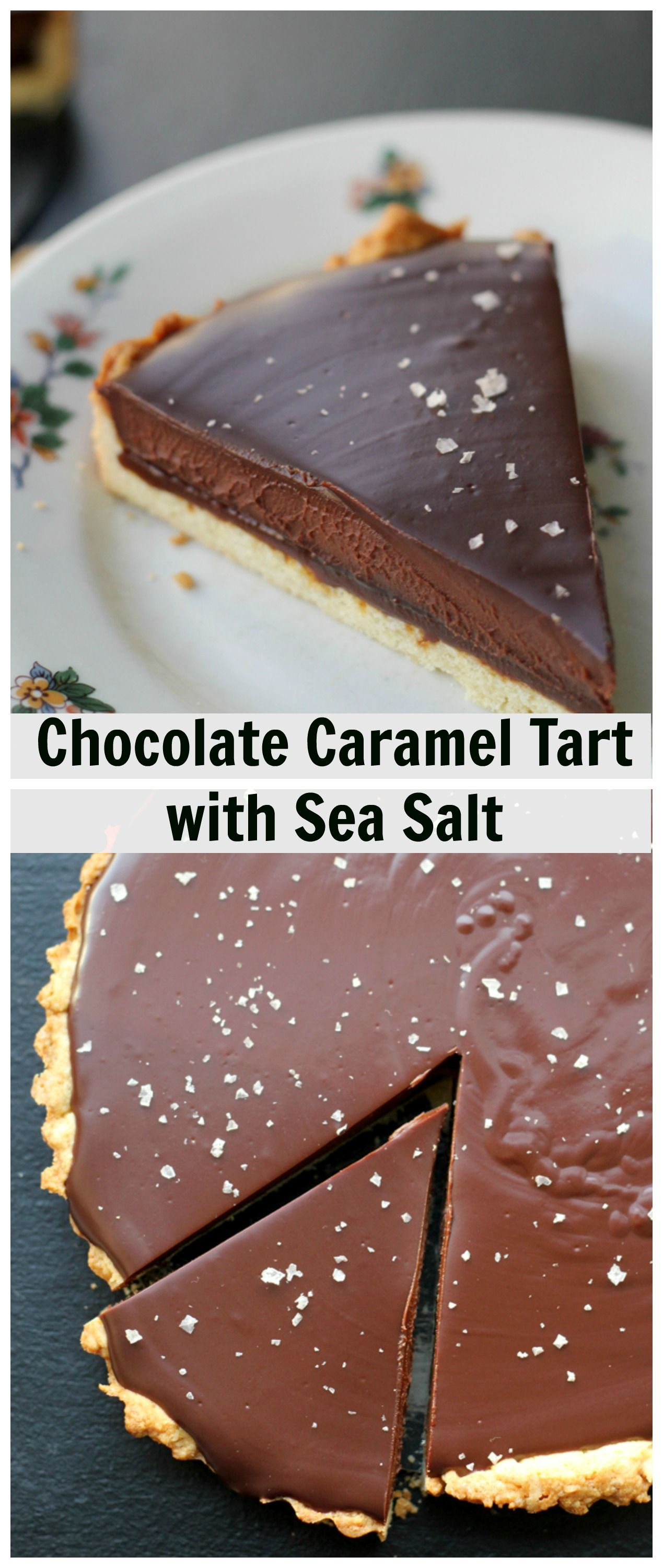 This elegant tart has a crisp cookie crust that is filled with a layer of salted caramel and topped with a thick decadent ganache.