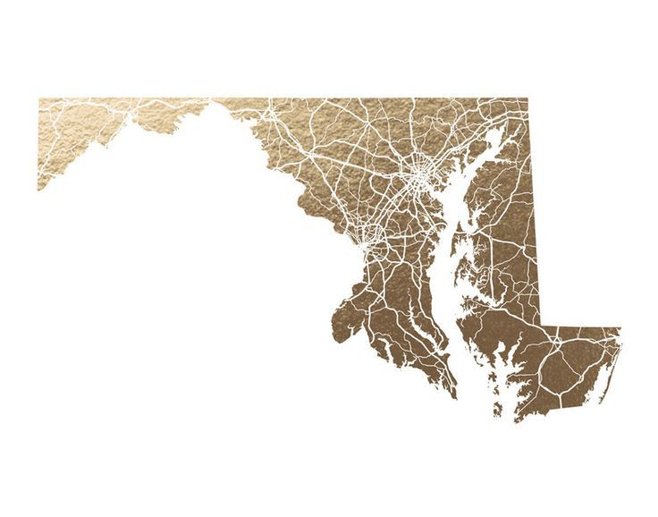 Maryland Map by GeekInk Design for Minted
