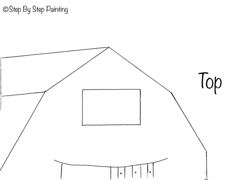 How To Paint American Barn Step By Step Painting Painting Templates Canvas Painting Diy