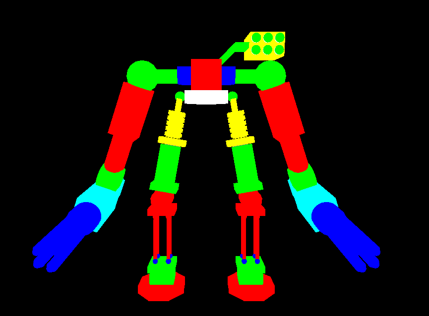 3D animated robot opengl mini projects - VTU 6th sem mini