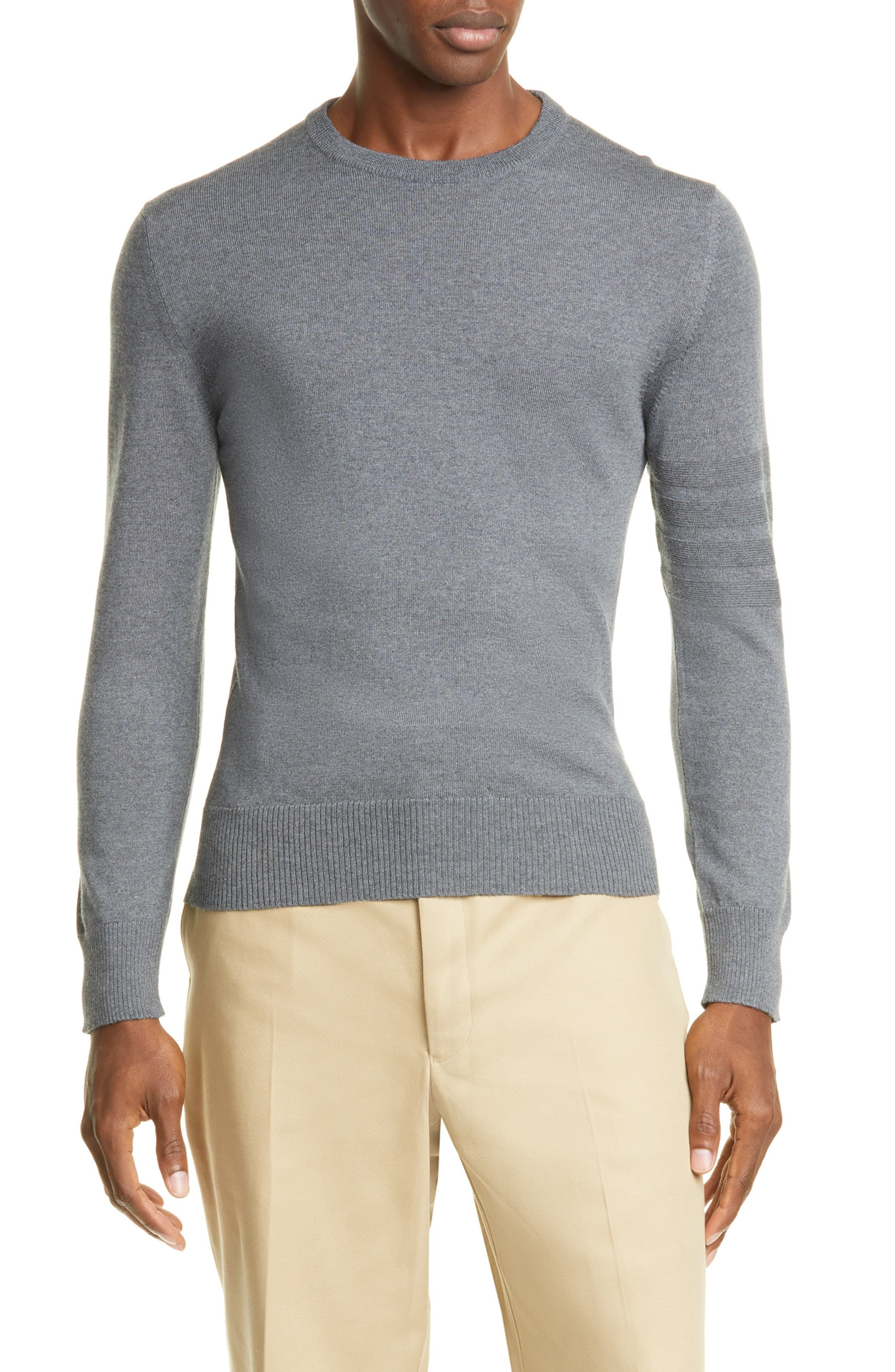 Thom Browne 4 Bar Cotton Sweater | Cotton sweater, Sweaters