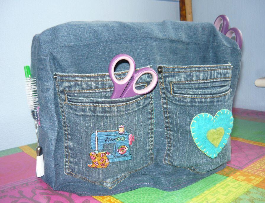 sewing machine cover Nähmaschine Abdeckung passend zum Jeans Style ...