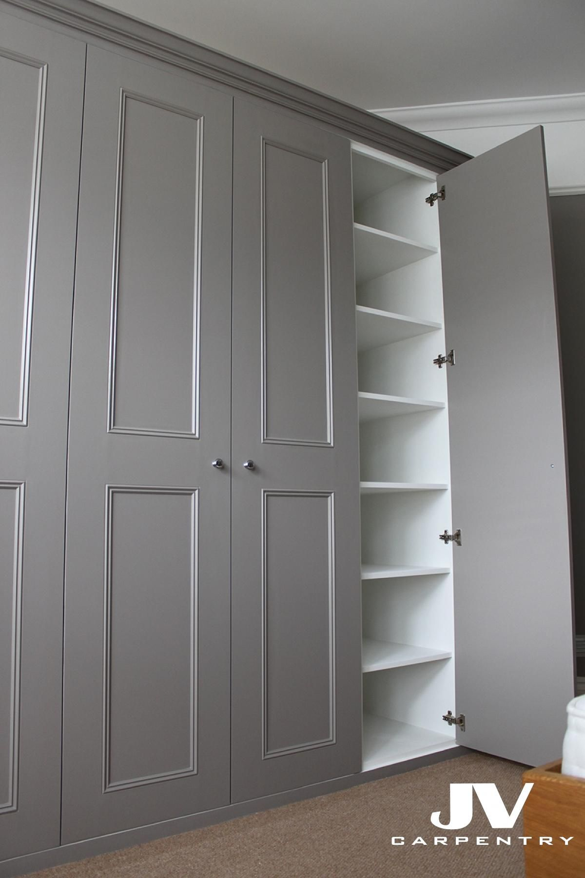 grey shaker with panel mouldings fitted wardrobe in 15 ...