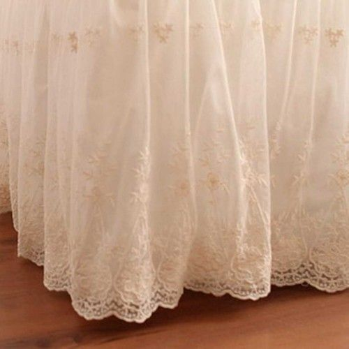 Lace Love Bed Skirt With Images Lace Bedding Bedskirt Lace