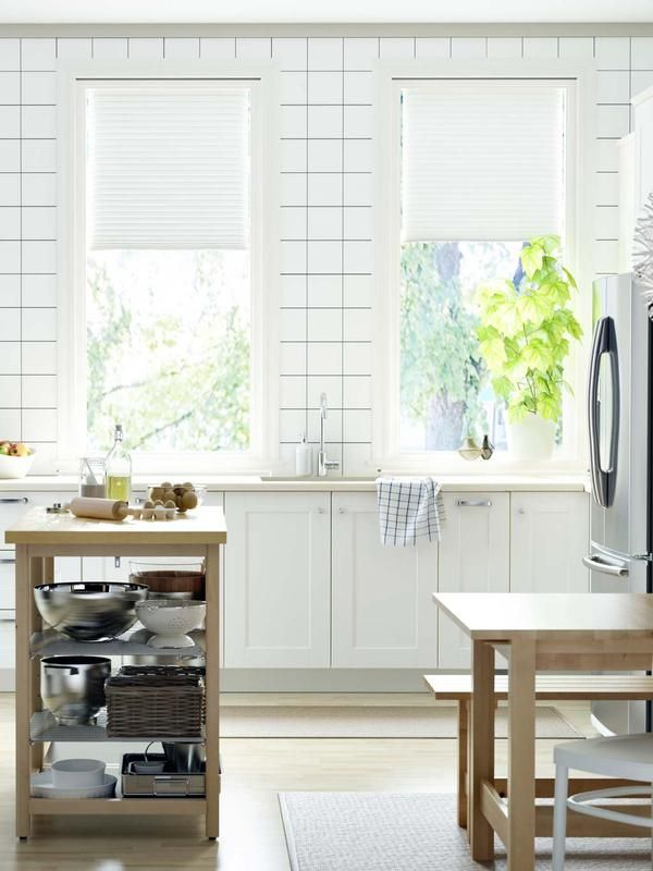Ventanas con cortinas o estores cocina ikea estor y ikea - Estores de cocina ...